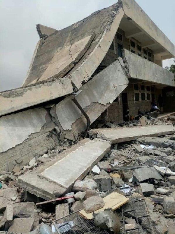 دمار من انفجار مدرسة عكاد